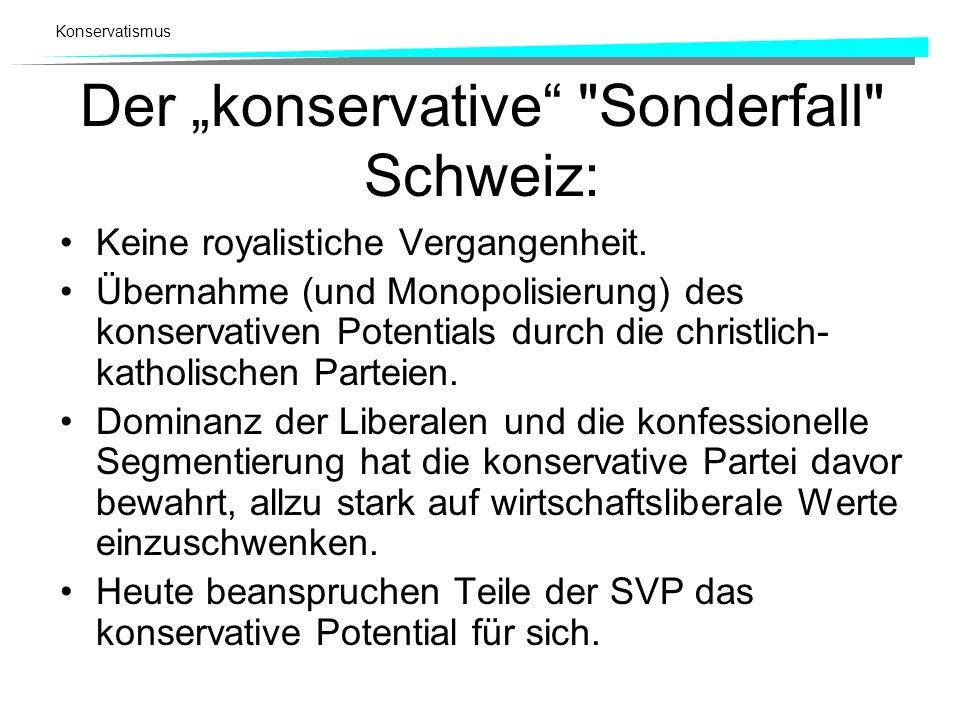 """Der """"konservative Sonderfall Schweiz:"""