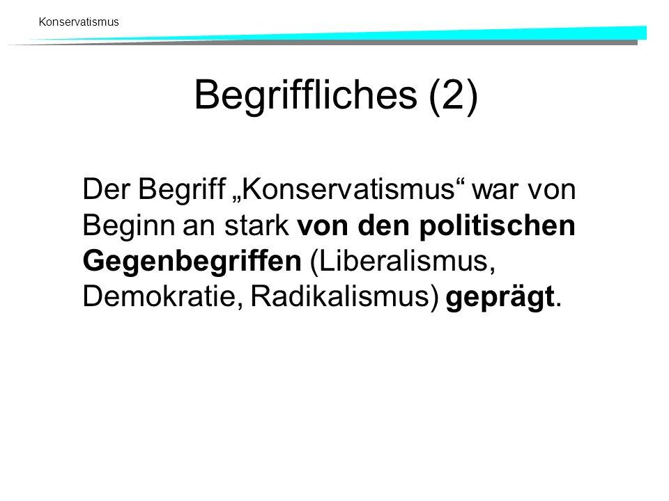 Begriffliches (2)