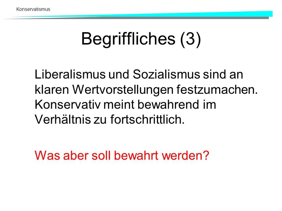 Begriffliches (3)