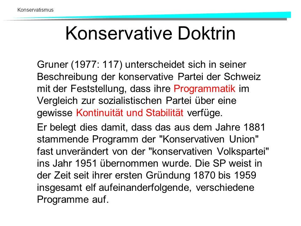 Konservative Doktrin