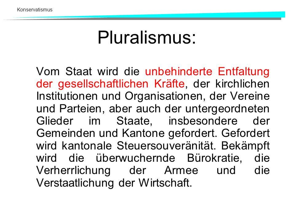 Pluralismus: