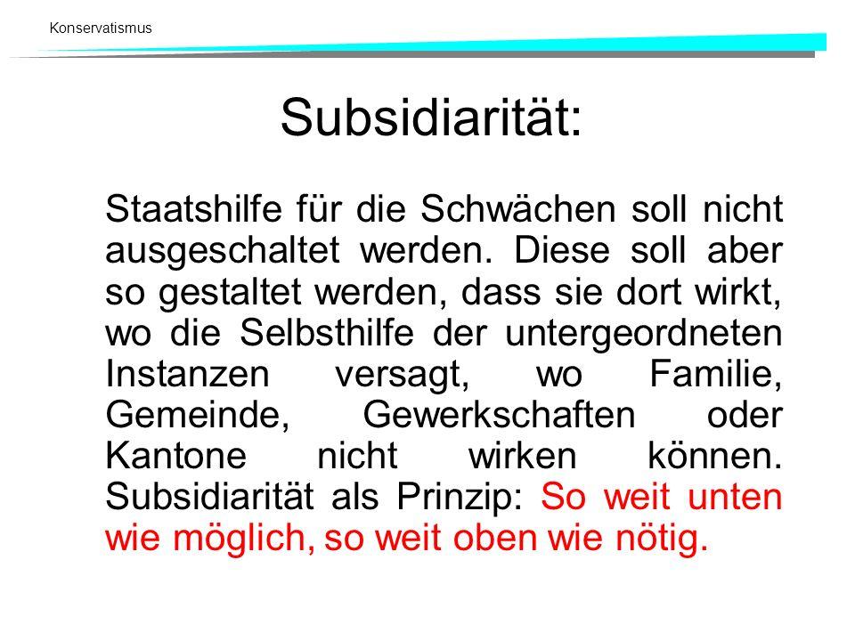 Subsidiarität: