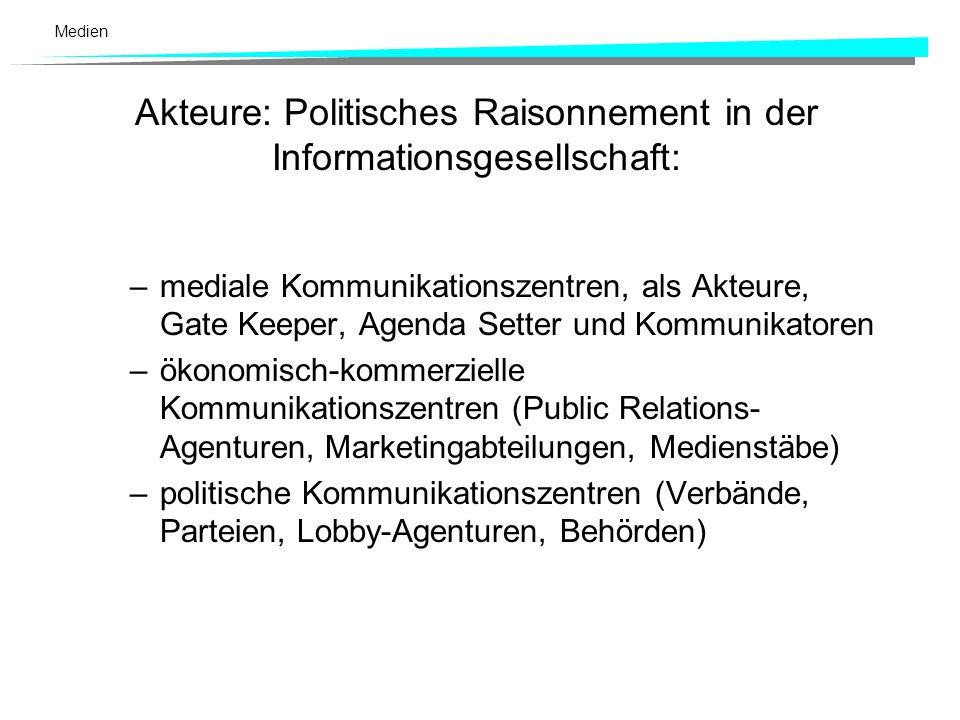 Akteure: Politisches Raisonnement in der Informationsgesellschaft:
