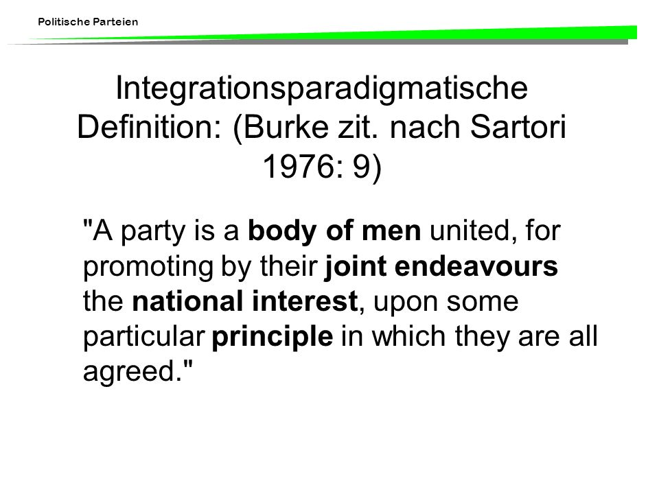Integrationsparadigmatische Definition: (Burke zit