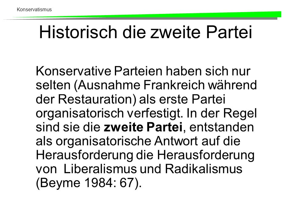 Historisch die zweite Partei