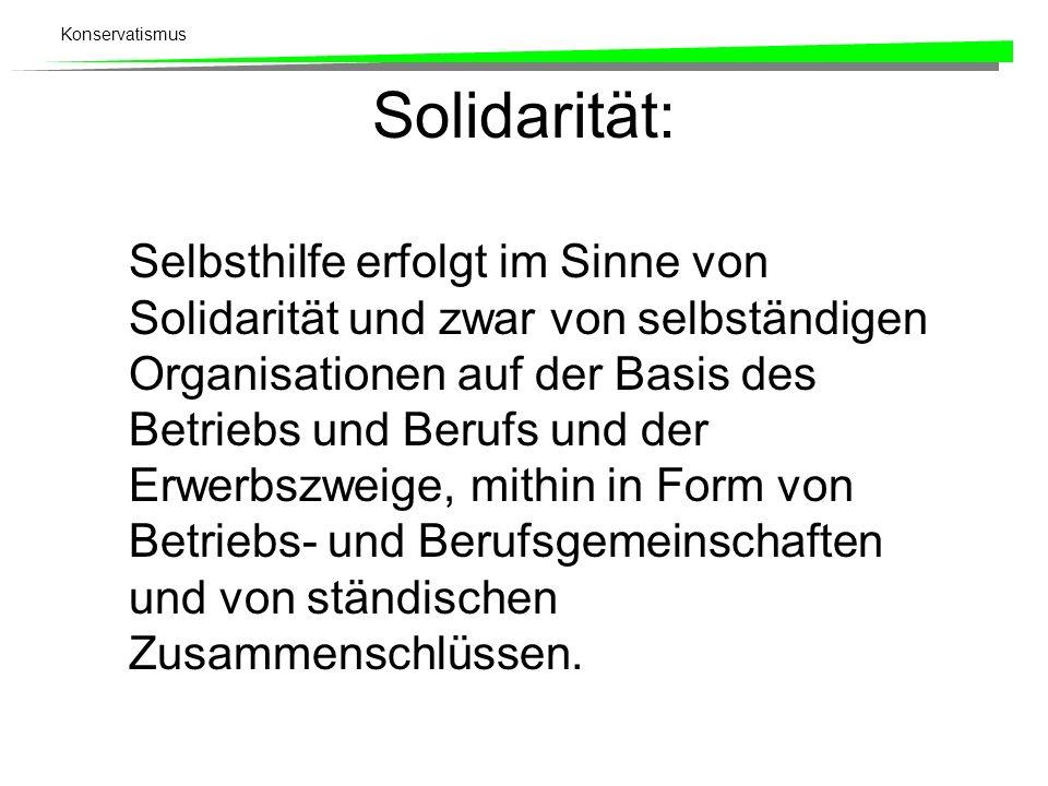 Solidarität: