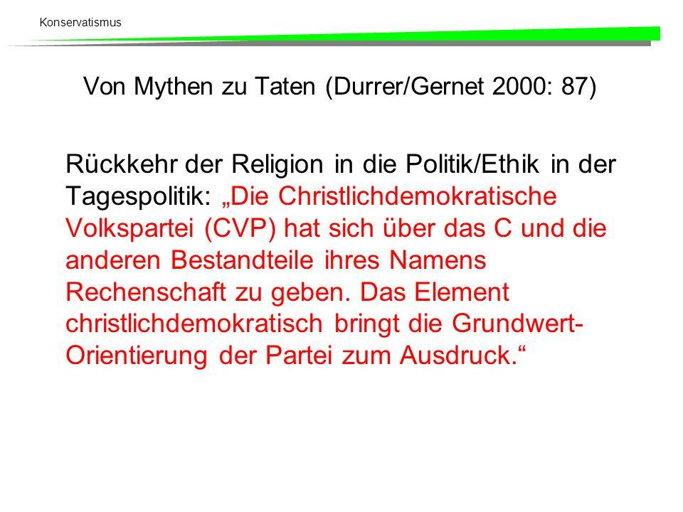 Von Mythen zu Taten (Durrer/Gernet 2000: 87)