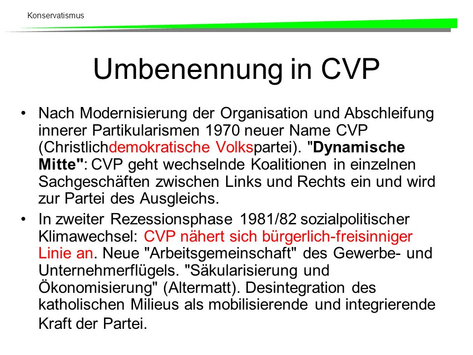 Umbenennung in CVP