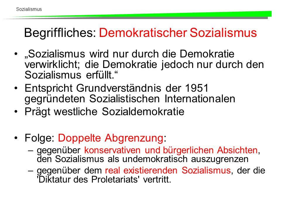 Begriffliches: Demokratischer Sozialismus
