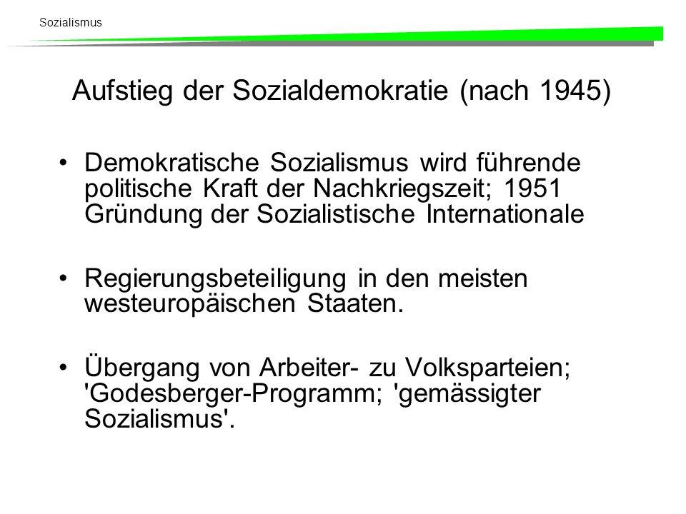 Aufstieg der Sozialdemokratie (nach 1945)