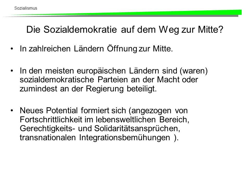 Die Sozialdemokratie auf dem Weg zur Mitte