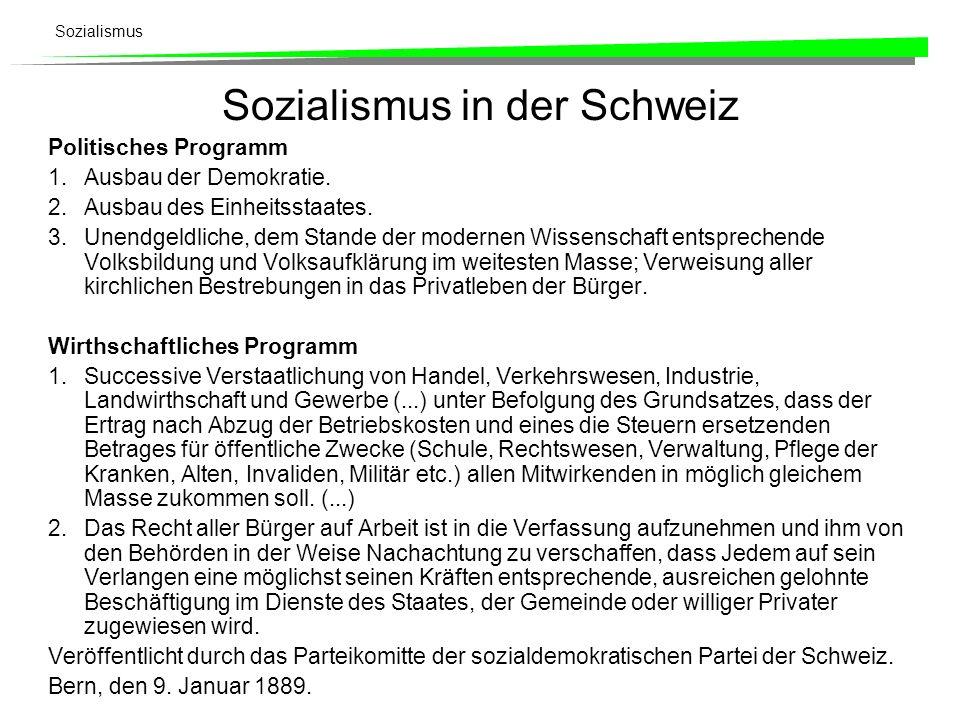 Sozialismus in der Schweiz