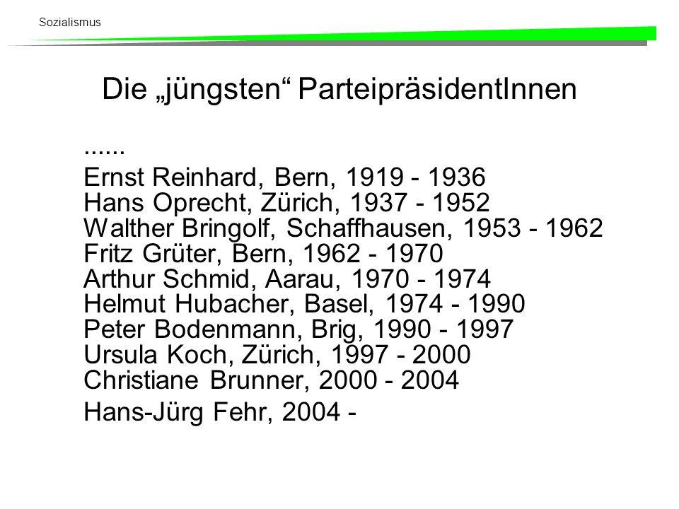 """Die """"jüngsten ParteipräsidentInnen"""