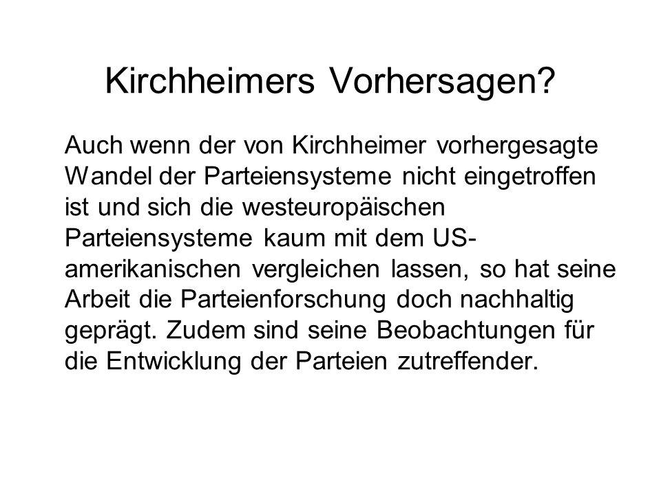 Kirchheimers Vorhersagen