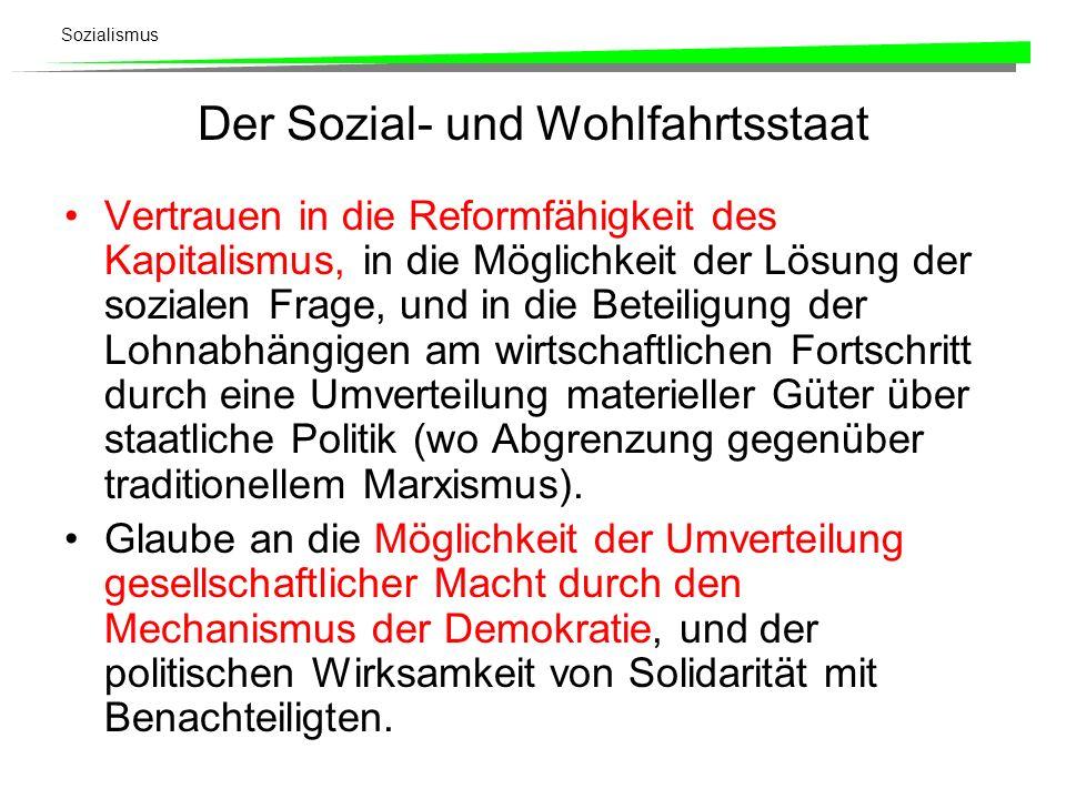 Der Sozial- und Wohlfahrtsstaat