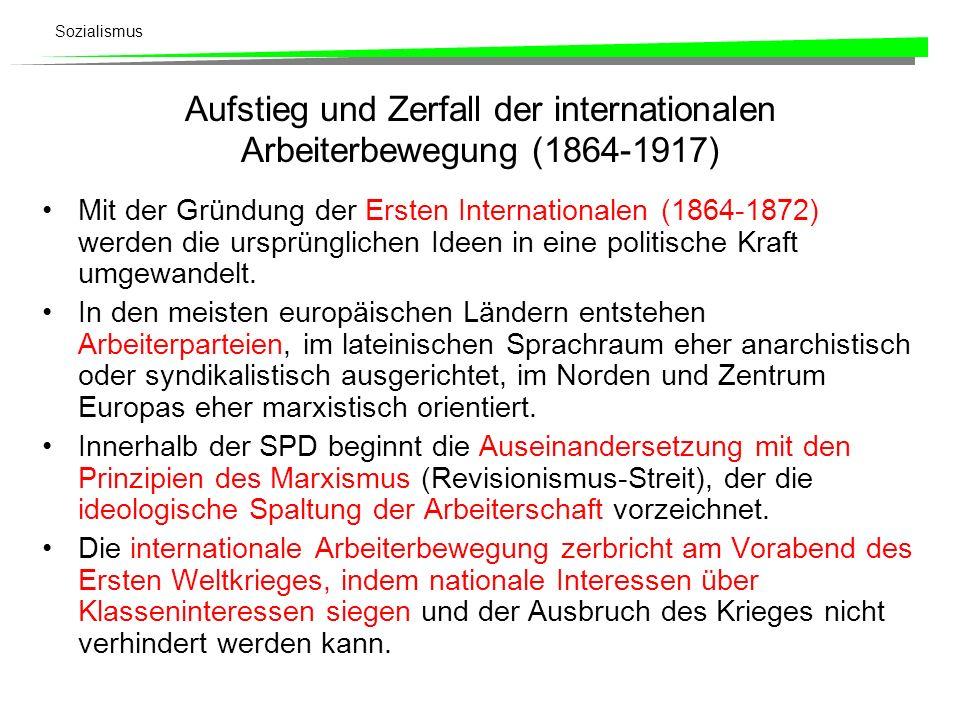 Aufstieg und Zerfall der internationalen Arbeiterbewegung (1864-1917)