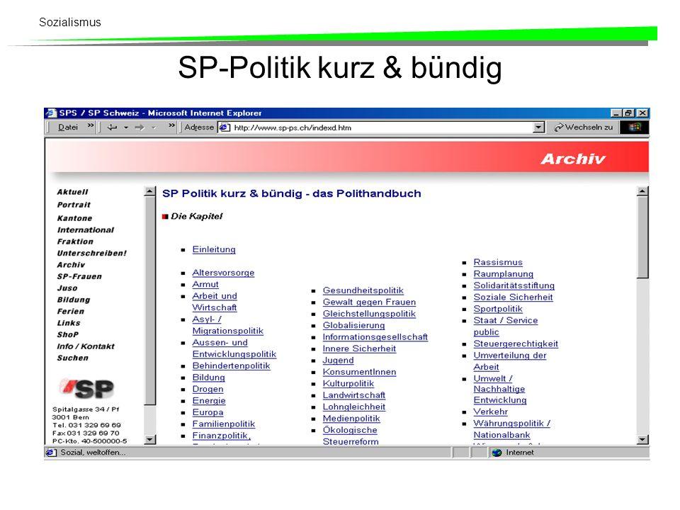 SP-Politik kurz & bündig
