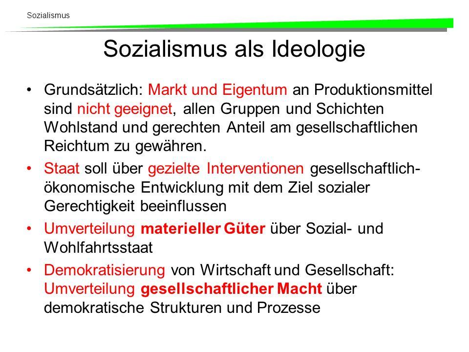Sozialismus als Ideologie