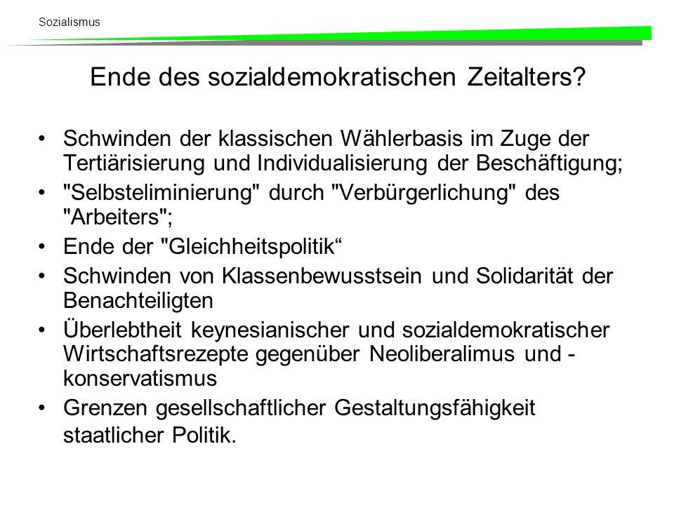 Ende des sozialdemokratischen Zeitalters