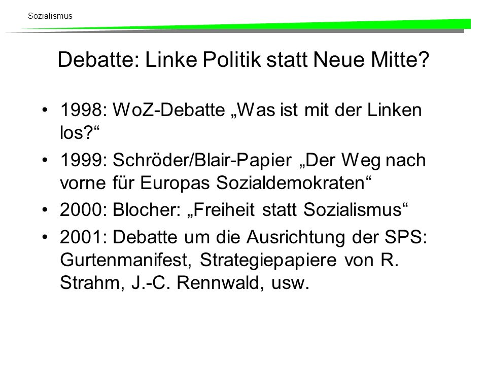 Debatte: Linke Politik statt Neue Mitte