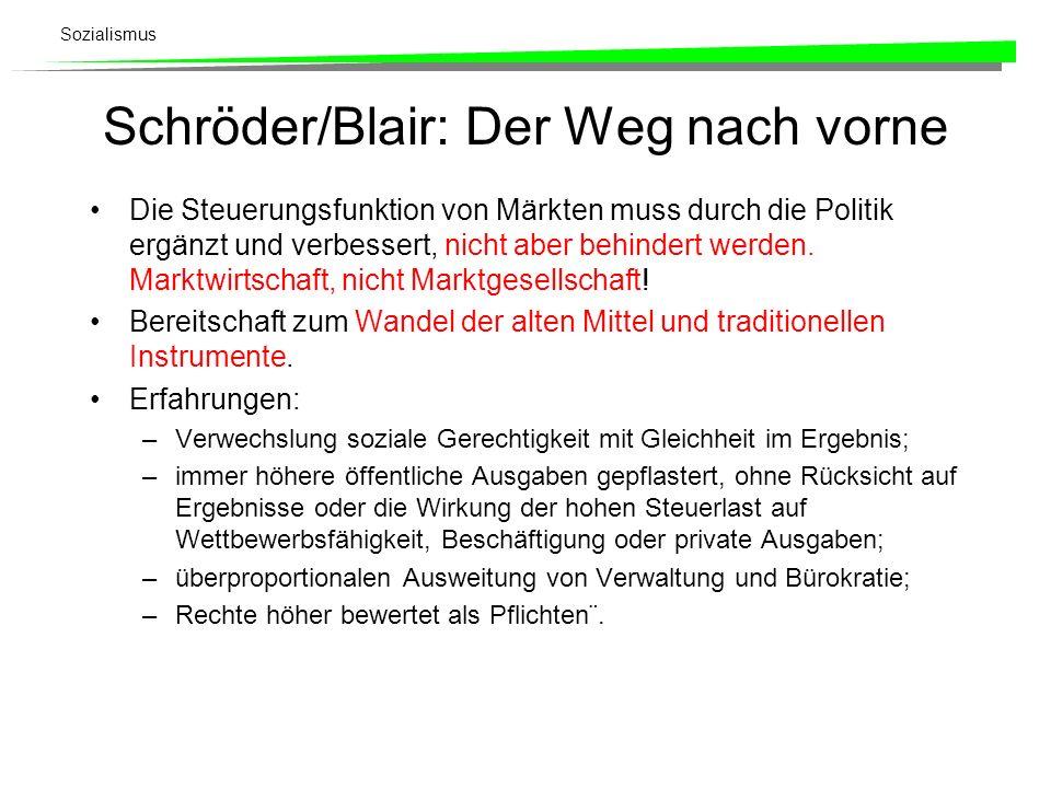 Schröder/Blair: Der Weg nach vorne