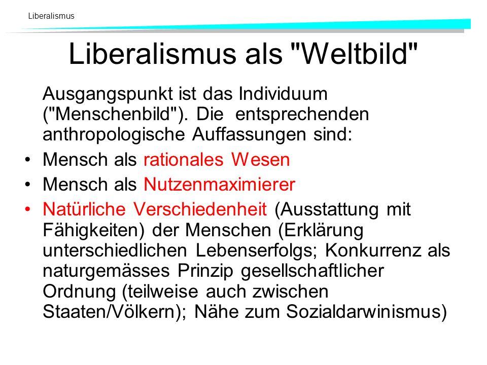 Liberalismus als Weltbild