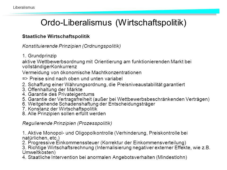 Ordo-Liberalismus (Wirtschaftspolitik)