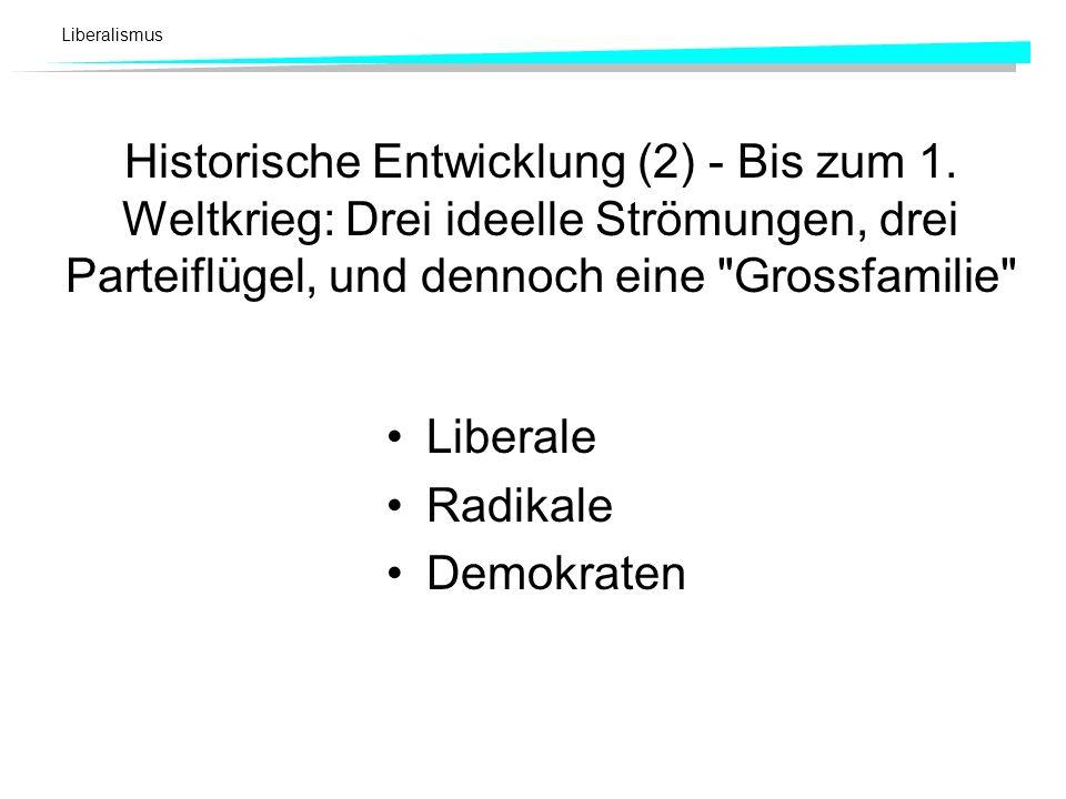 Historische Entwicklung (2) - Bis zum 1