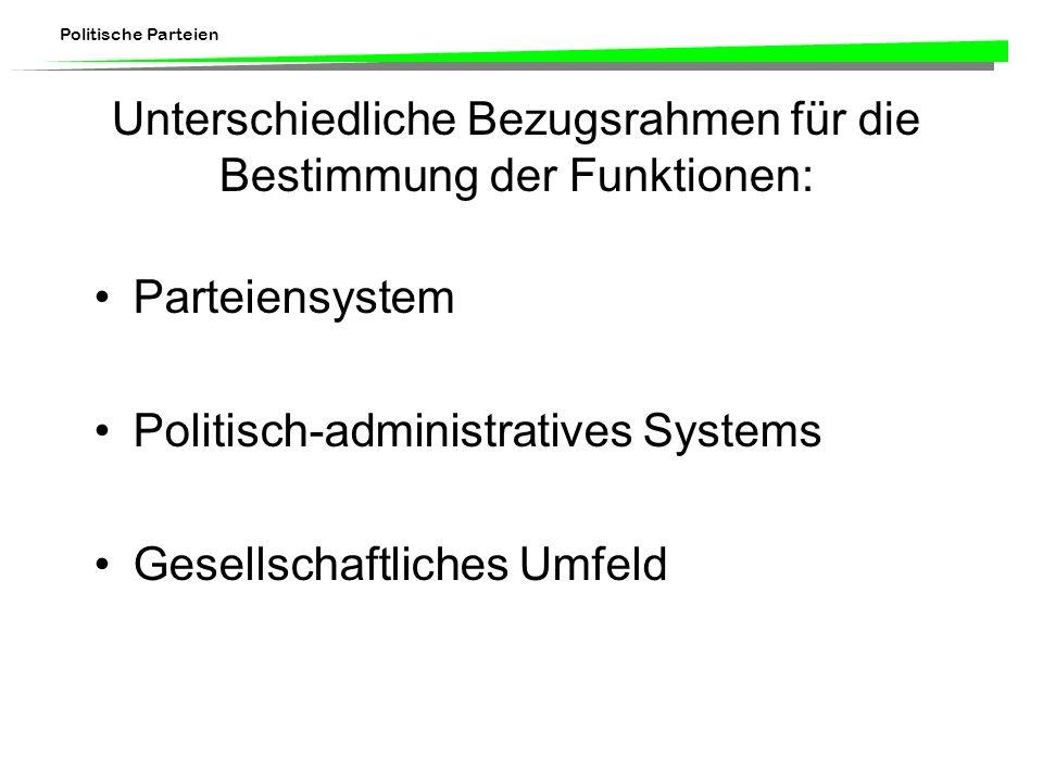 Unterschiedliche Bezugsrahmen für die Bestimmung der Funktionen: