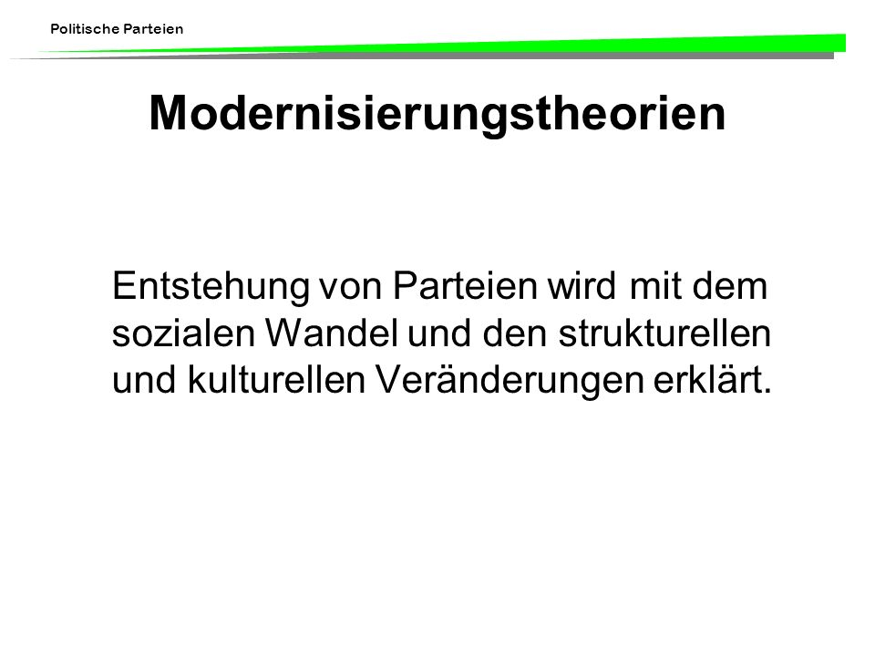 Modernisierungstheorien