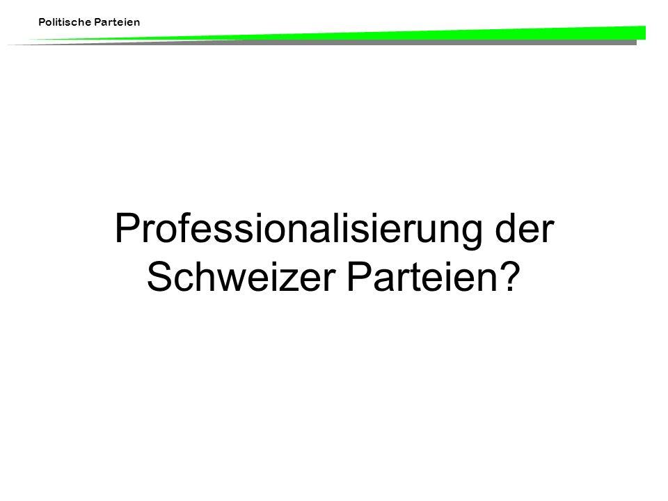 Professionalisierung der Schweizer Parteien