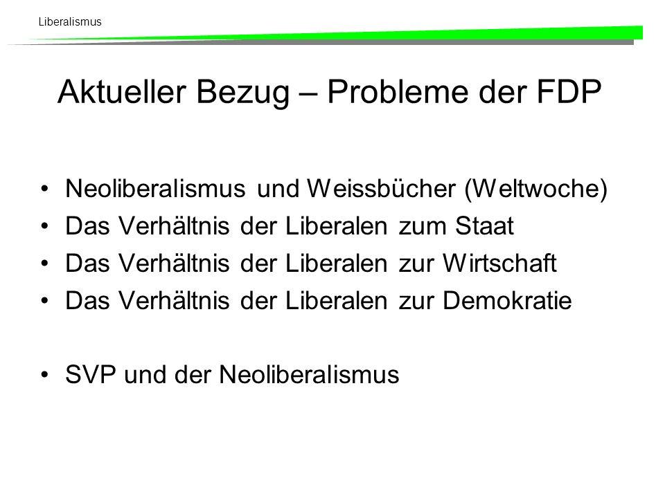 Aktueller Bezug – Probleme der FDP