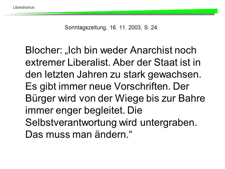 Sonntagszeitung, 16. 11. 2003, S. 24.