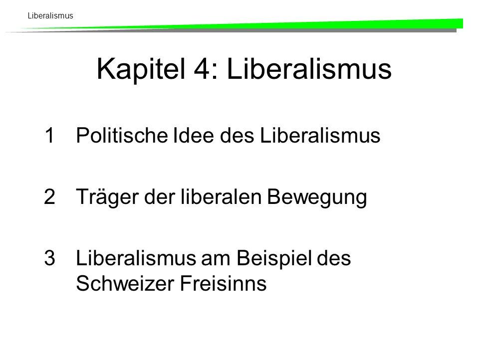 Kapitel 4: Liberalismus