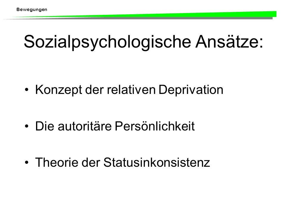 Sozialpsychologische Ansätze: