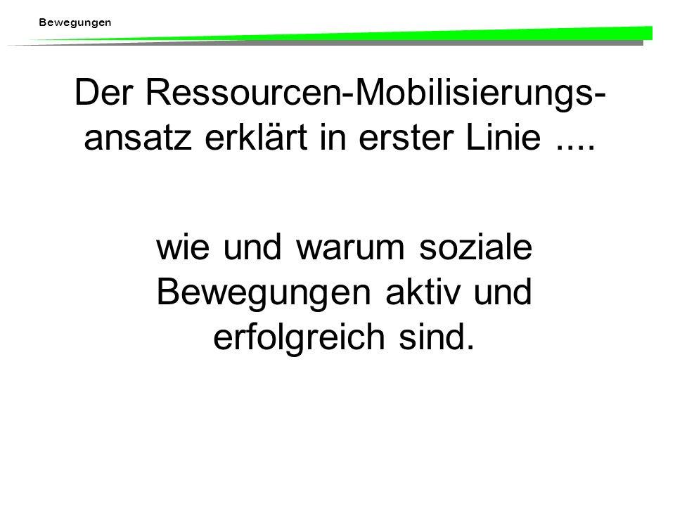 Der Ressourcen-Mobilisierungs-ansatz erklärt in erster Linie ....