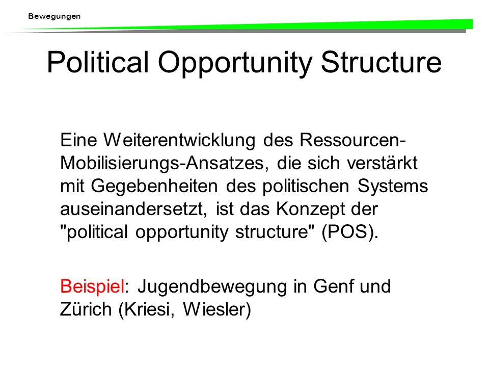Political Opportunity Structure
