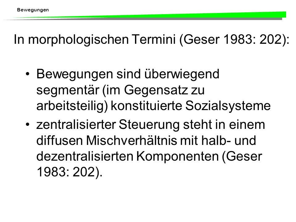 In morphologischen Termini (Geser 1983: 202):