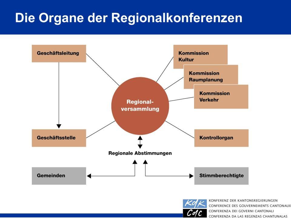 Die Organe der Regionalkonferenzen