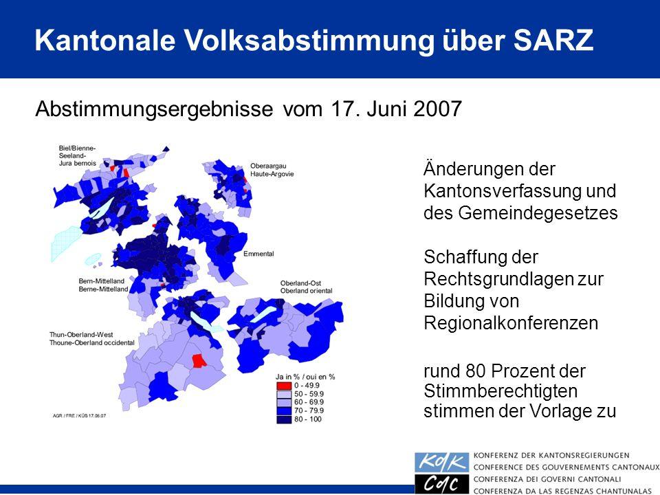 Kantonale Volksabstimmung über SARZ