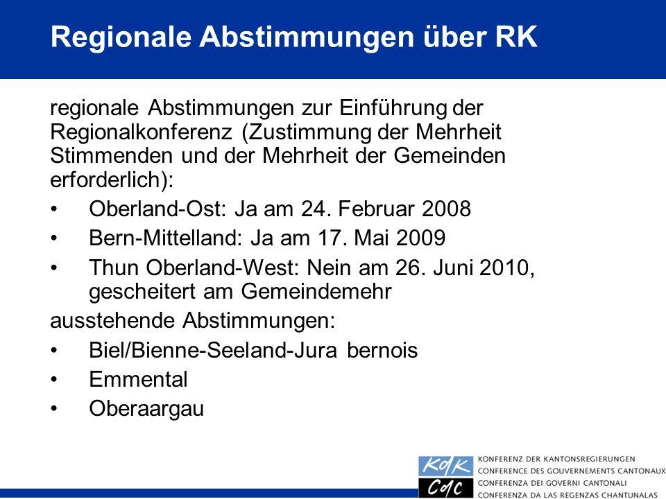 Regionale Abstimmungen über RK