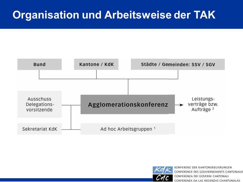 Organisation und Arbeitsweise der TAK