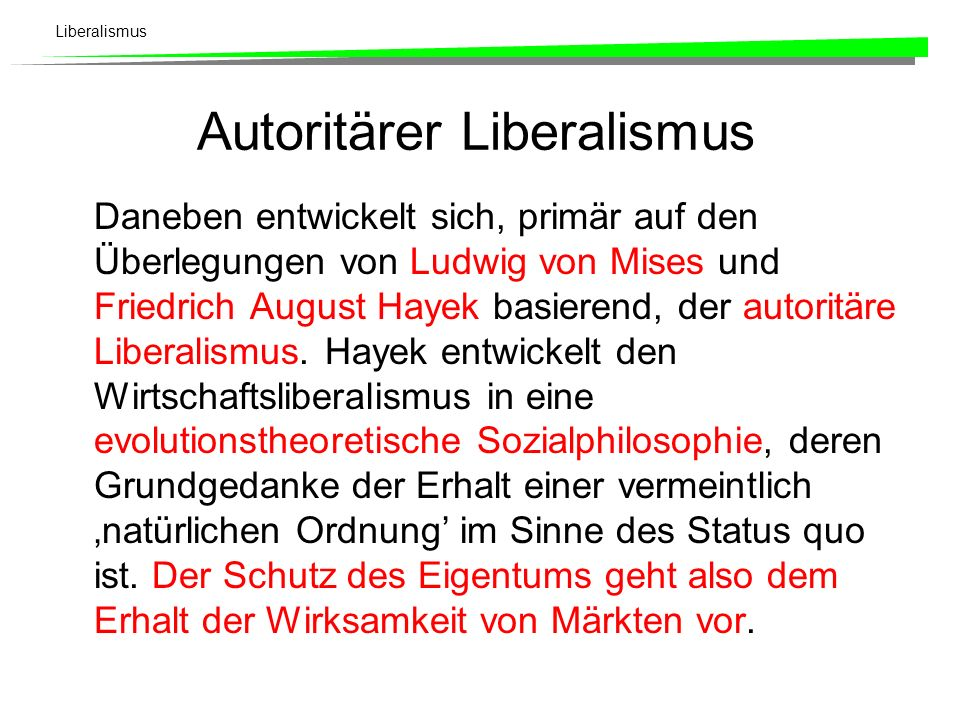 Autoritärer Liberalismus