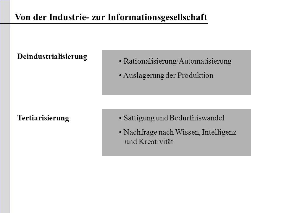 Von der Industrie- zur Informationsgesellschaft