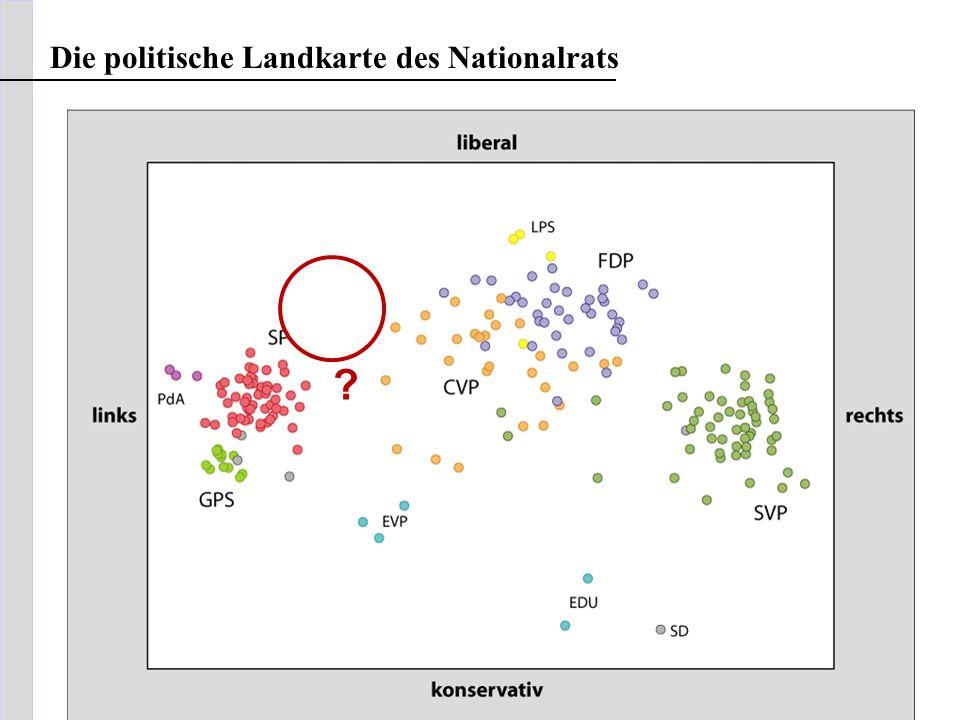 Die politische Landkarte des Nationalrats