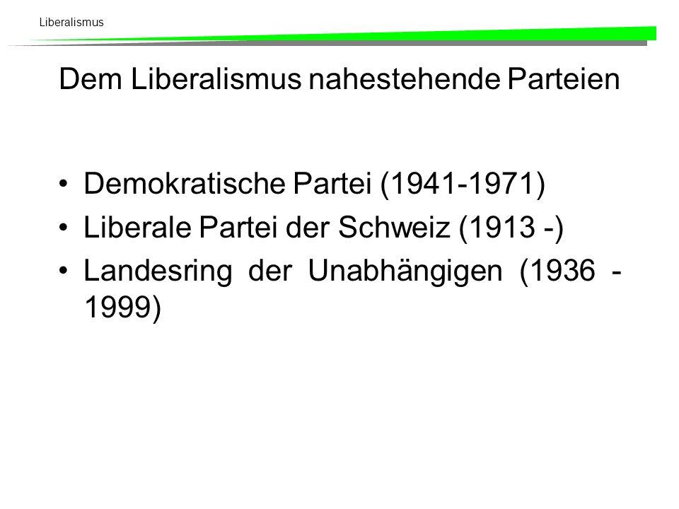 Dem Liberalismus nahestehende Parteien