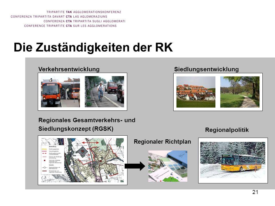 Die Zuständigkeiten der RK