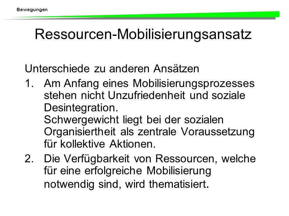 Ressourcen-Mobilisierungsansatz