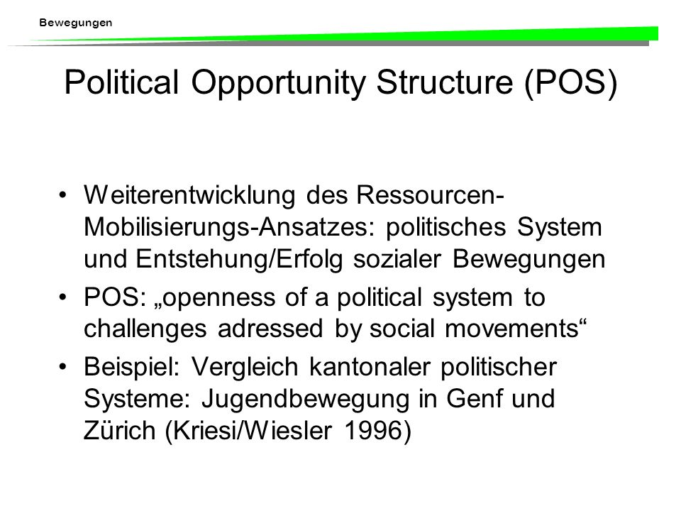 Political Opportunity Structure (POS)