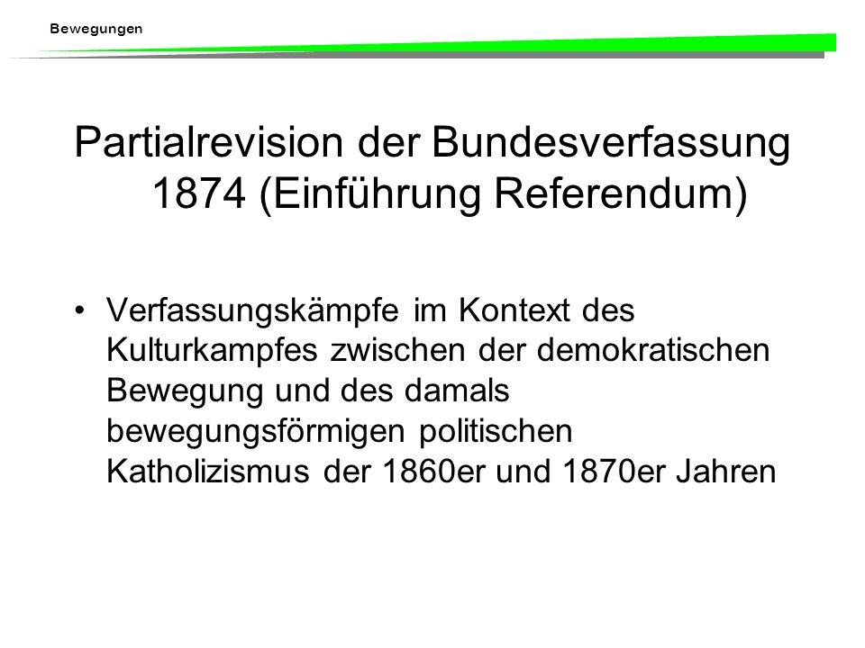 Partialrevision der Bundesverfassung 1874 (Einführung Referendum)